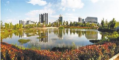 马龙区水景公园。董石玉 摄