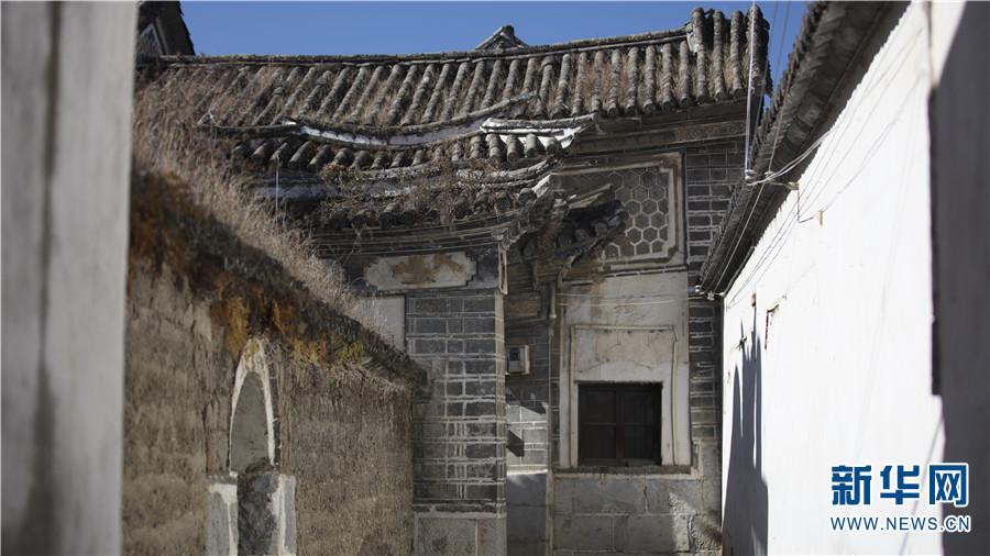 喜洲古镇古建筑风貌(12月14日摄)。新华网 丁凝 摄