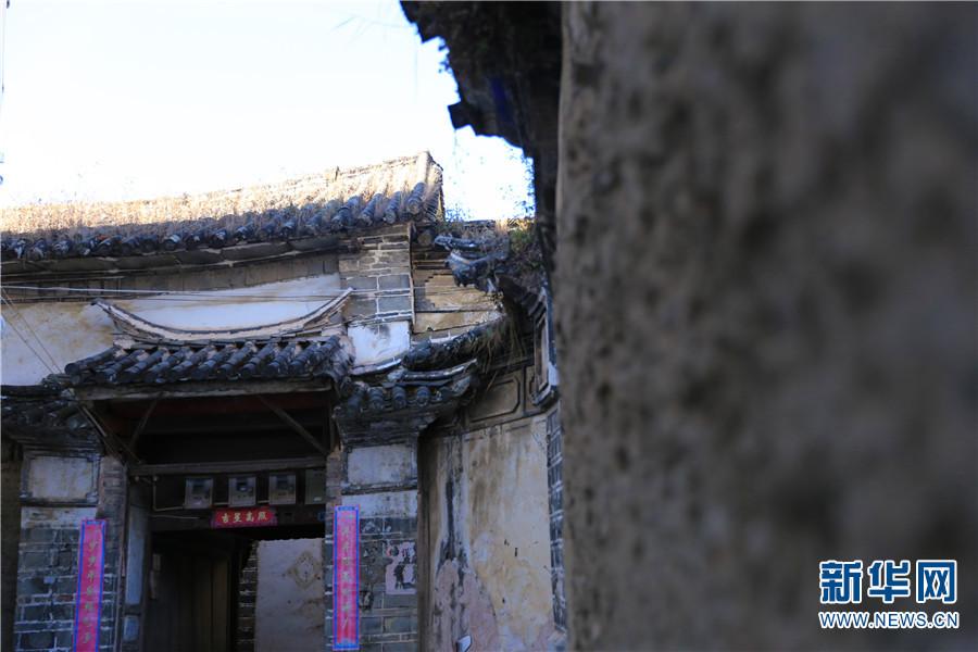 喜洲古镇古建筑风貌(12月14日摄)。新华网 赵普凡 摄